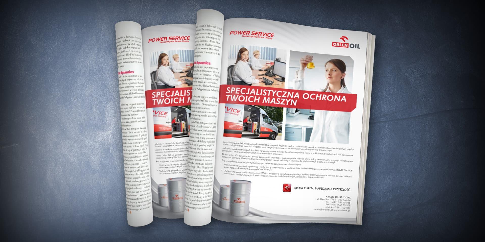 orlen power serwice reklama prasowa