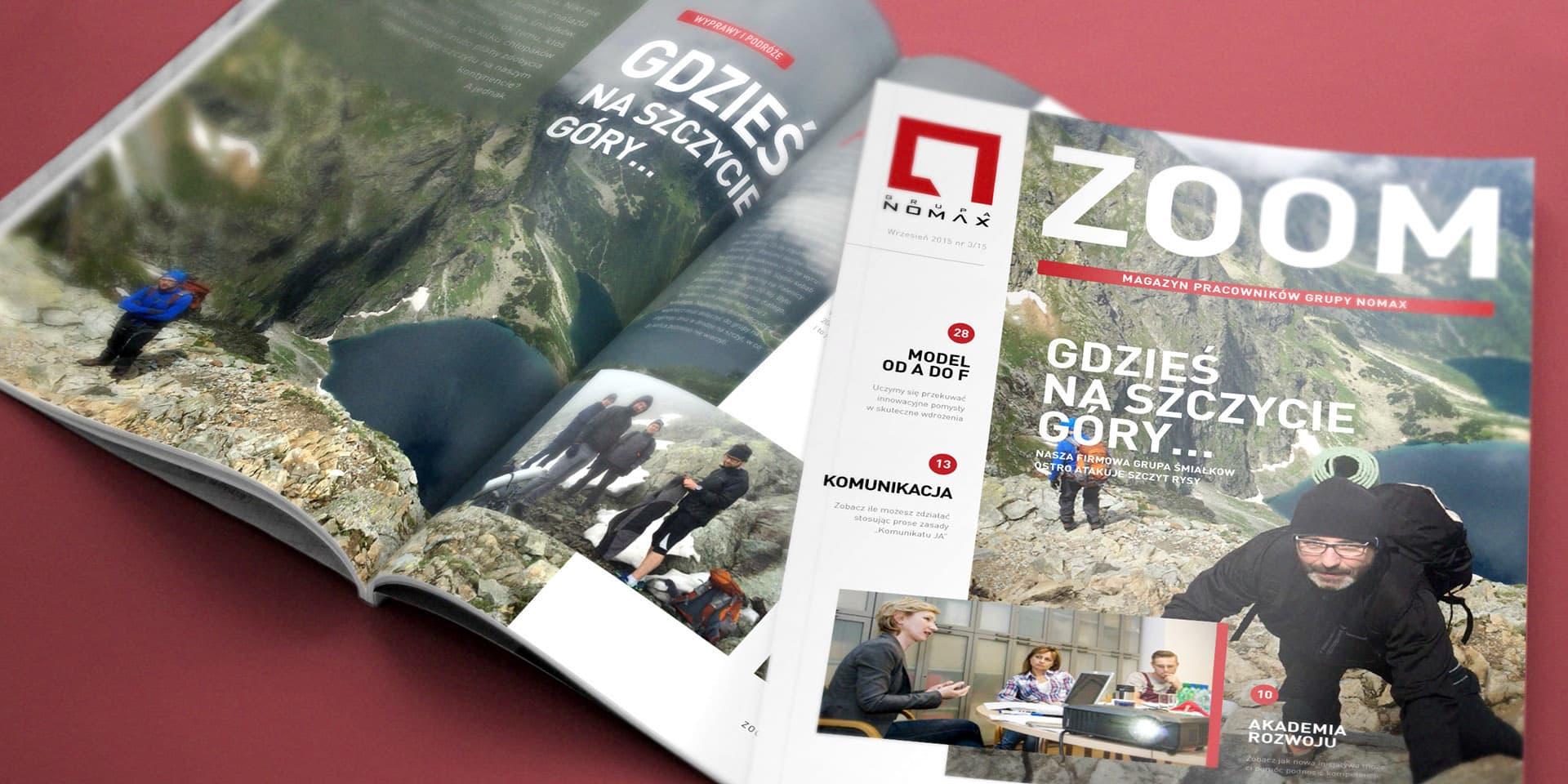 Layout prasowy magazynu ZOOM