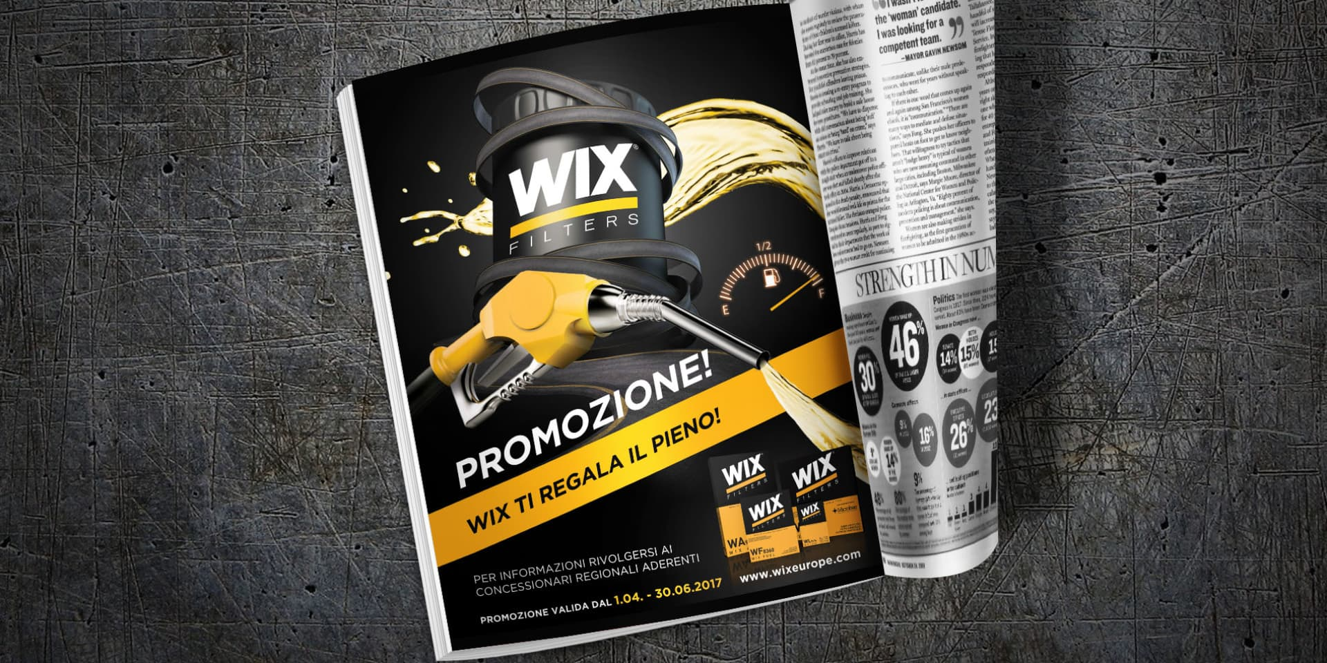 reklama prasowa Wix Filters
