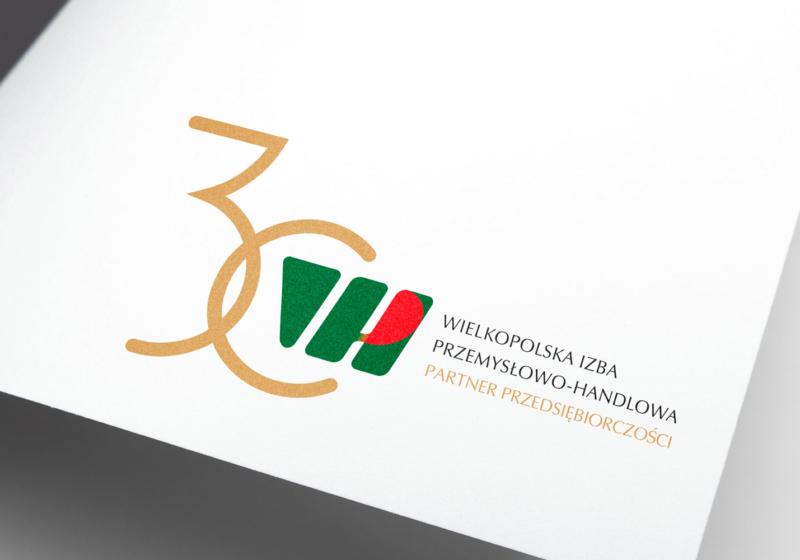 logo 30 lat Wielkopolskiej Izby Przemysłowo-Handlowej
