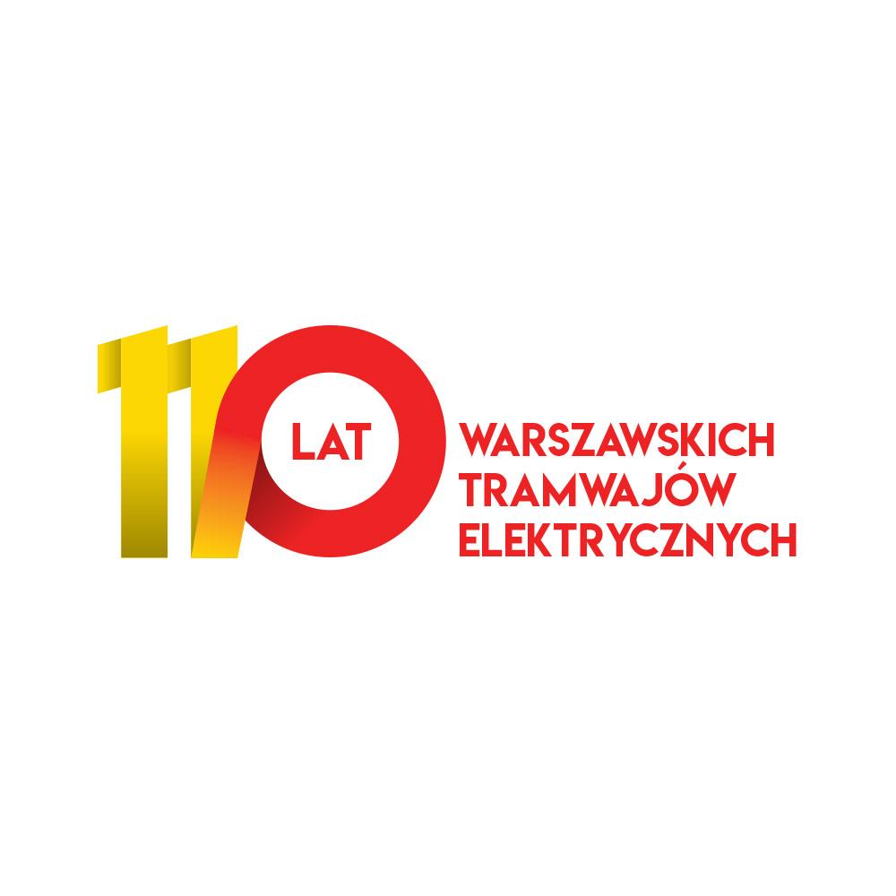Projekt logo na 110 rocznicę elektryfikacji tramwajów warszawskich