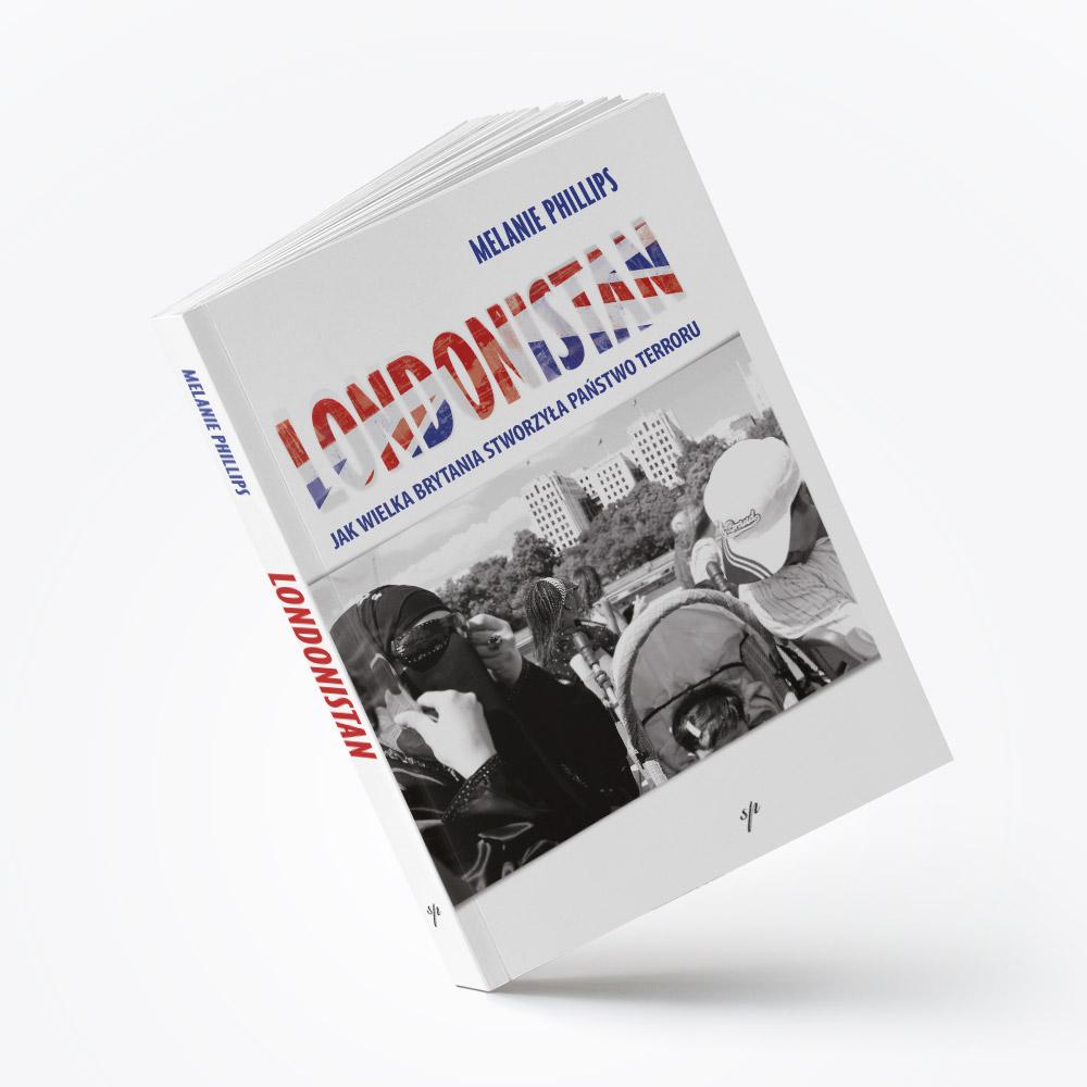 """Projekt okładki książki """"Londonistan"""" oraz jej skład"""
